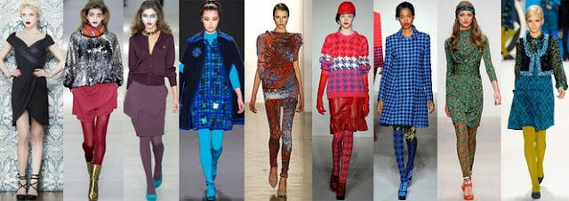 Сочетание цветных колготок с одеждой