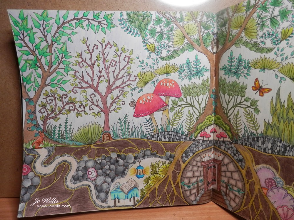 the enchanted forest coloring pages - photo #39
