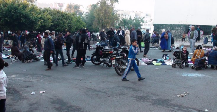 «جوطية» تعيق ولوج المصلين إلى مسجد بسيدي البرنوصي