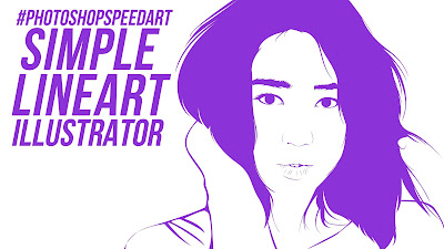 Portrait line art adobe illustrator