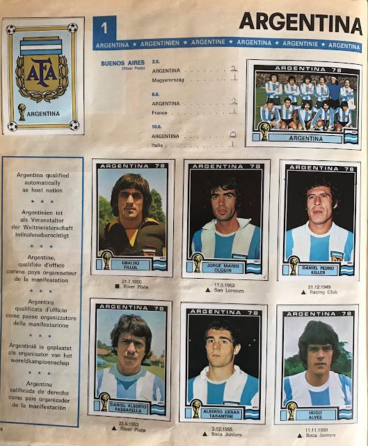 Figurine Argentina 78