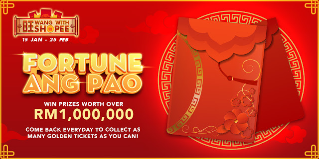 RM1 Juta Fortune Ang Pao Kempen Wang Bersama Shopee