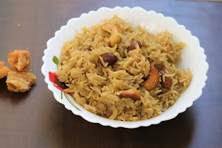 gur ke chawal, jaggery rice recipe, how to make gur ke chawal