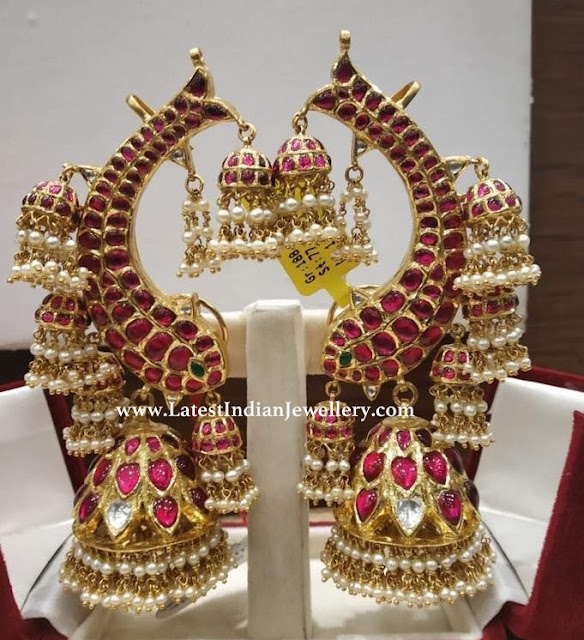 Heavy All Over Kundan Jhumkas