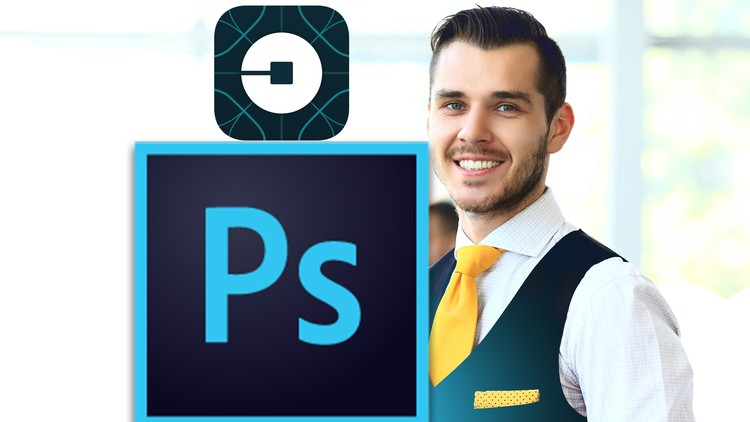 Mobile App Design in Photoshop From Scratch: Design Uber App - Coupon