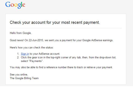 Syoknya Dapat Pembayaran Google Adsense