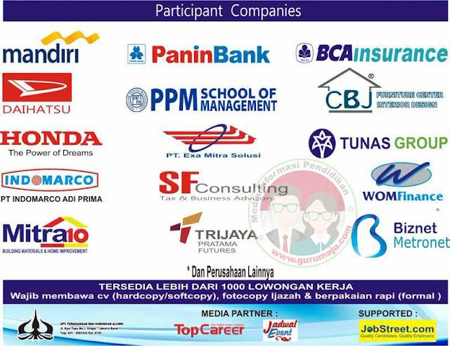 Banyak perusahaan Yang Menjadi Peserta USAKTI Job Fair