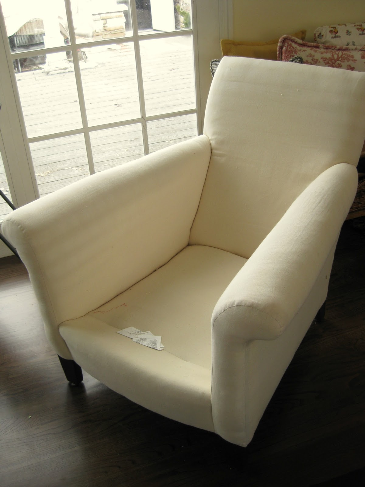 White Slipcover Chair And Ottoman Dining Table 6 Chairs Cheap Custom Slipcovers By Shelley Floral