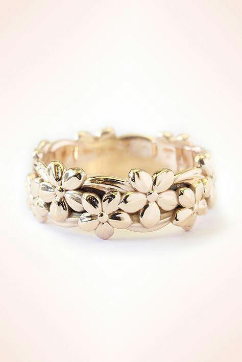 fancy floral designer ring