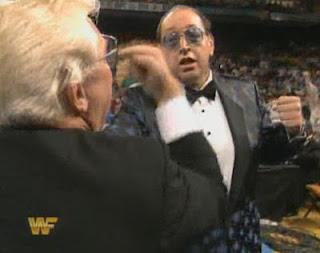 WWF / WWE Survivor Series 1993: Gorilla Monsoon threatens to beat up Bobby Heenan