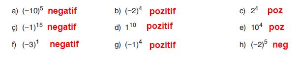 7. Sınıf Gizem Yayınları Matematik Ders Kitabı 29. Sayfa Cevapları Üslü Nicelikler