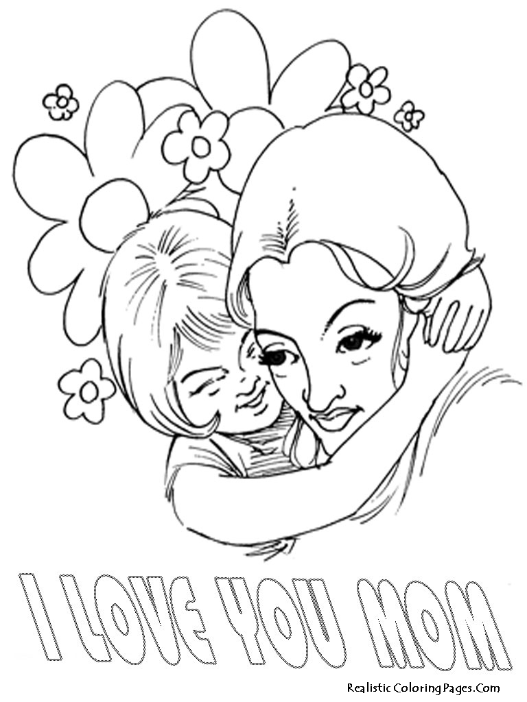 Happy mothers day coloring pages realistic coloring pages for Mother s day spanish coloring pages