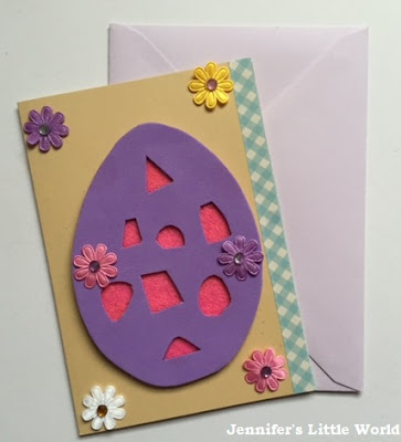 Felt cut away Easter card