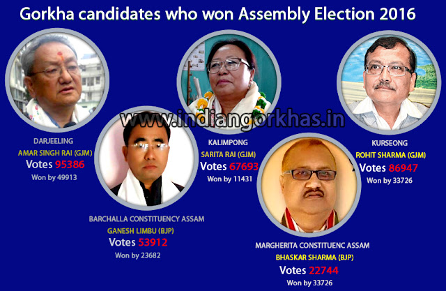 Gorkha candidates who won Assembly Election 2016