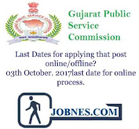 Last Dates for applying that post online/offline? 03th October. 2017last date for online process.