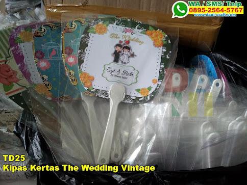 Kipas Kertas The Wedding Vintage