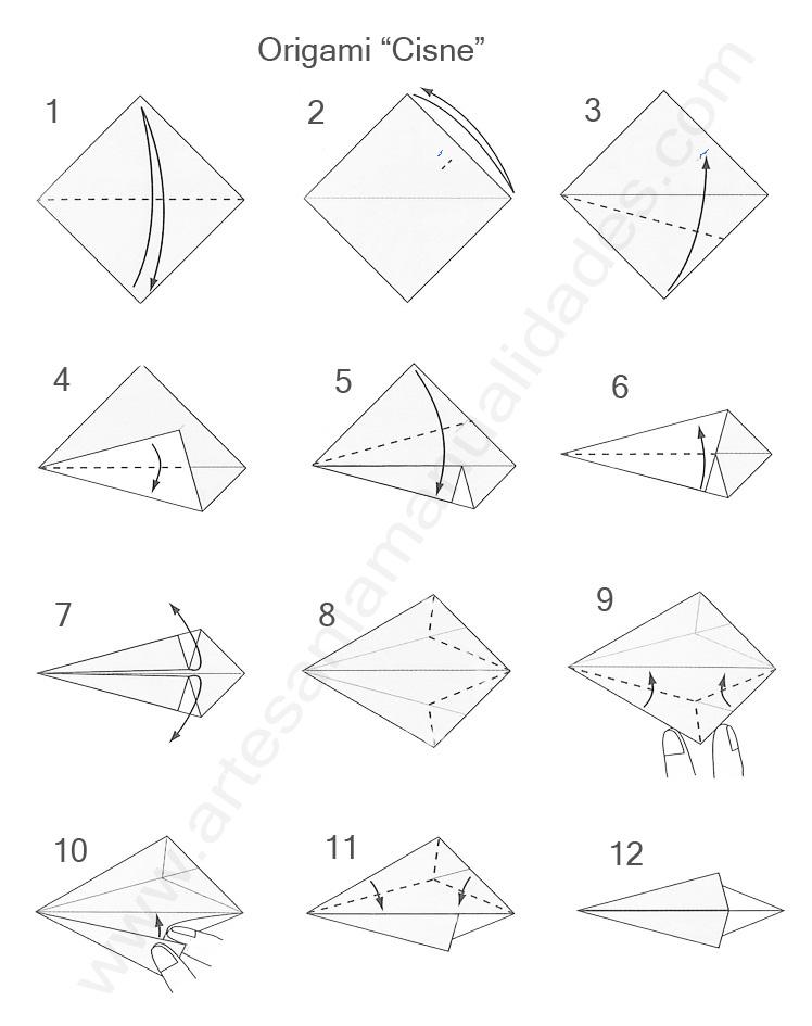 como hacer un cisne de papel origami como hacer un cisne