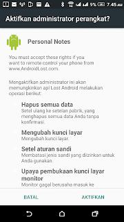 Cara Memantau Handphone yang hilang dari jarak jauh menggunakan aplikasi gratis Android Lost