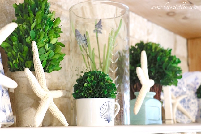 kitchen-stone-shelf-decorated-with-starfish-for-summery-coastal-decor