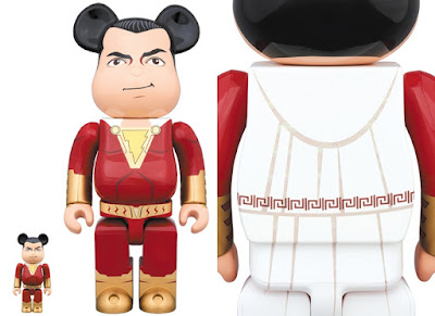 DC Comics' SHAZAM! Movie 400% & 100% Be@rbrick Vinyl Figure Box Set by Medicom Toy