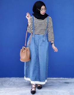 Cara Padu Padan Model Baju Overall Muslim Dan Jumpsuit Gaya Kekinian