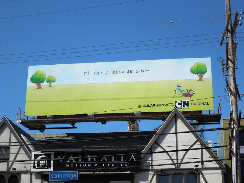 Regular Show Cartoon Network billboard