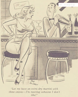 Dan De Carlo,vintage fashion,pin-up art,dry martini