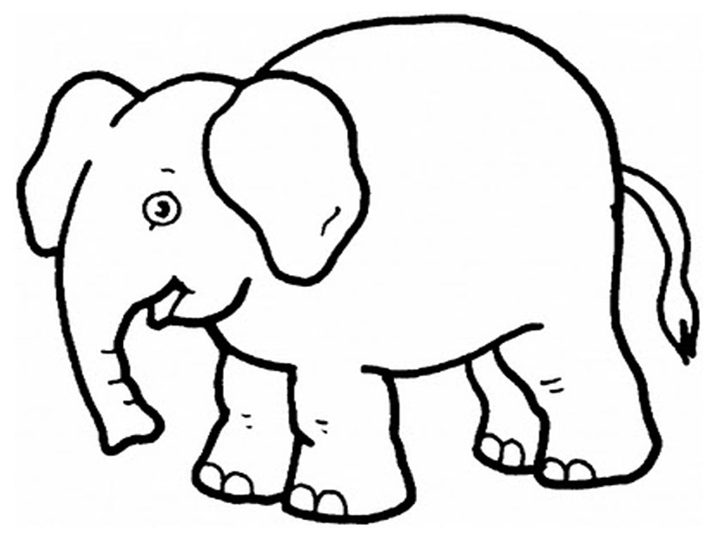 print elephant coloring pages - photo#23