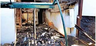 Minister Pushpakumara house fire