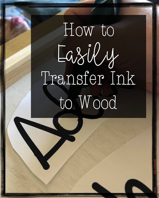 Easily Transfer Ink to Wood