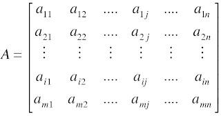 Notasi matriks