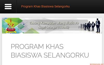 Permohonan Program Khas Biasiswa Selangorku 2018 Online