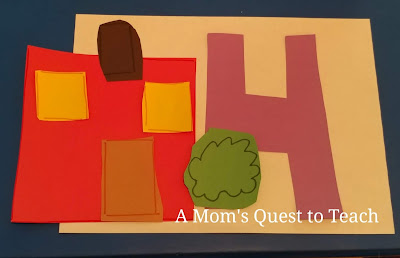 Construction paper house craft