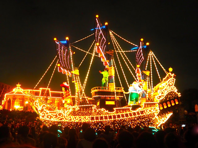 Peter Pan float, Dreamlights parade, Tokyo Disneyland, Japan