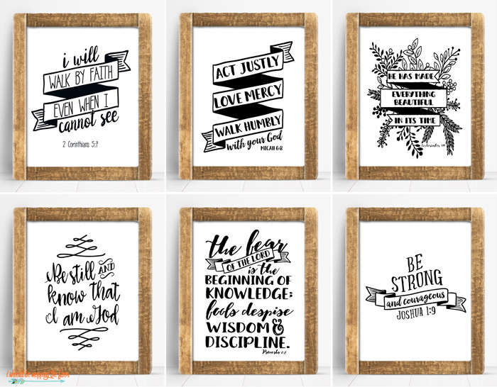 Bold Black and White Bible Printables