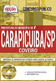 Apostila concurso Coveiro Prefeitura de Carapicuíba-SP