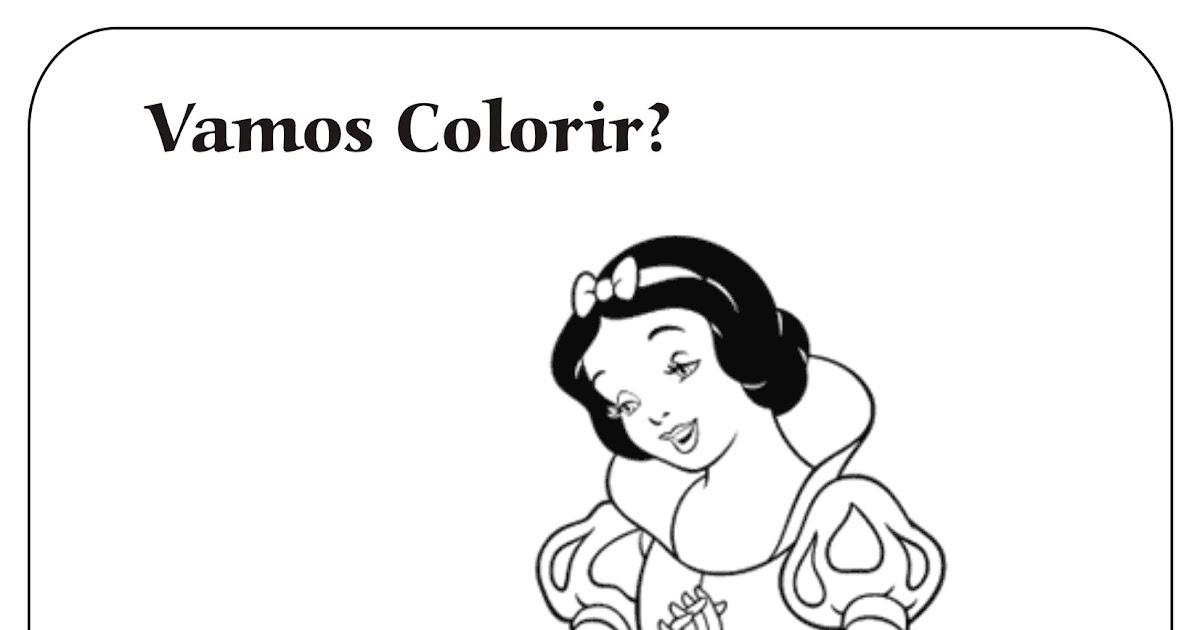 Branca De Neve Colorir