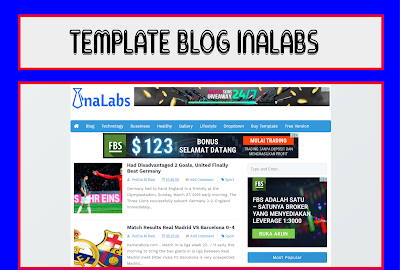 InaLabs Blogger Template Responsive, SEO, High CTR, Simple Free