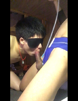 [2175] BJ for lover & cum straight boy