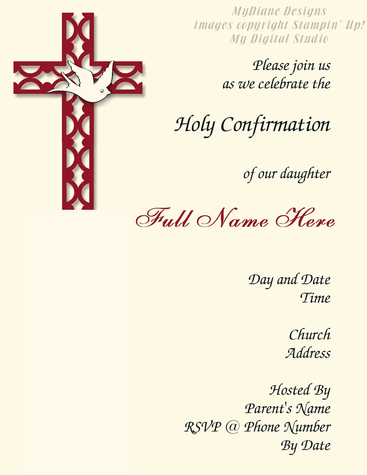 Images Of Lutheran Confirmation Invitations