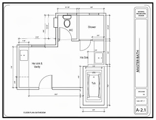 best design ideas: bathroom floor plan design