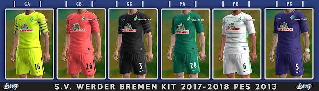 SV Werder Bremen Kit 2017-2018 PES 2013
