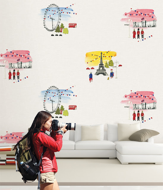 mẫu giấy dán tường cho bé