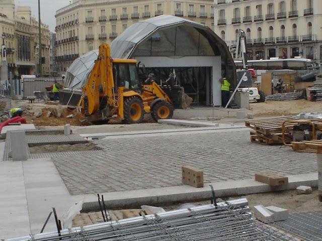 Fotos no tan antiguas de Madrid. El intercambiador de Sol