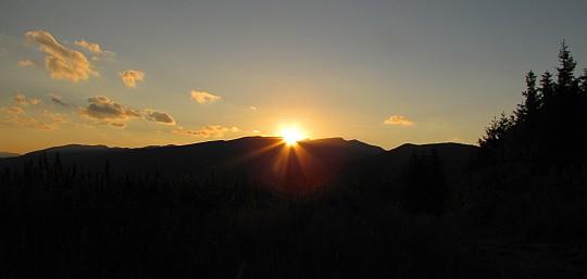Zachód słońca nad Ďumbierem.