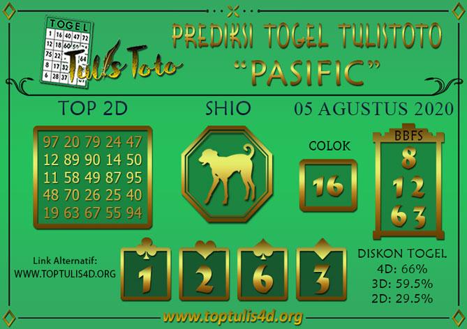 Prediksi Togel PASIFIC TULISTOTO 05 AGUSTUS 2020