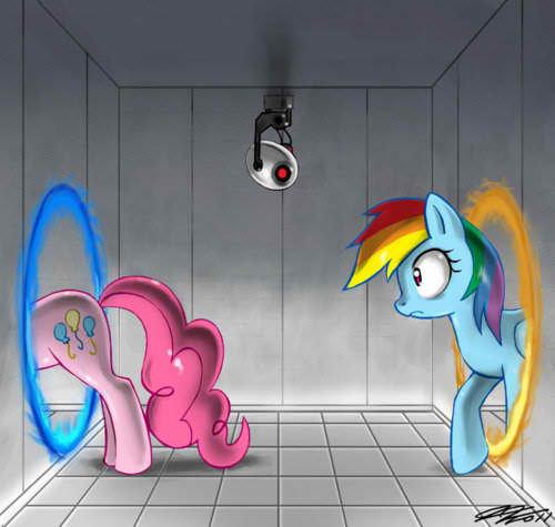 Equestria Daily - MLP Stuff!: Random Media: Portal 2 Pony Spheres / Terminator 2 (Sweetie Belle ...