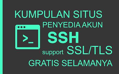 Kumpulan Situs Penyedia Akun SSH Support SSL/TLS Gratis Selamanya