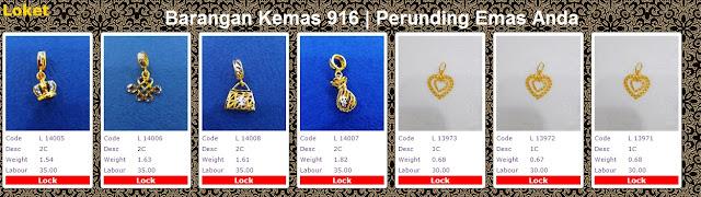 Galeri Emas Perhiasan 916 loket | powergold by syedhusseingold