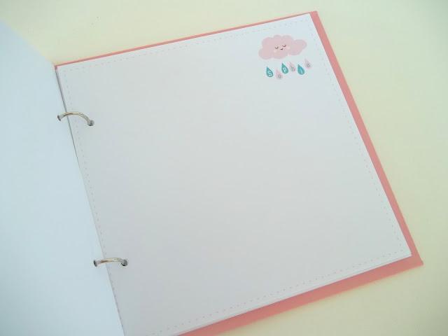 comprar caderno de assinaturas para bebê personalizado, rosa